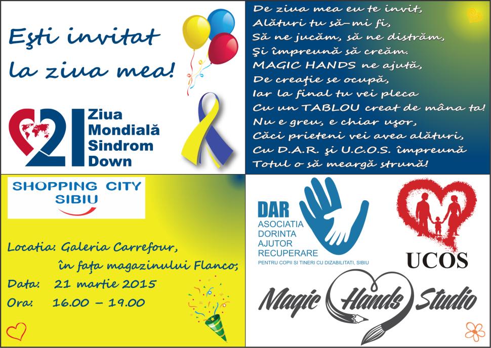 Invitatie Ziua Mondiala Sindrom Down Sibiu