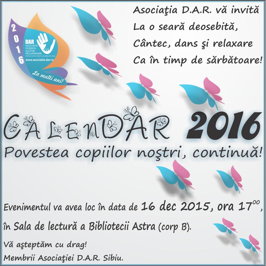 Invitatie Calendar Asociatia DAR 2016