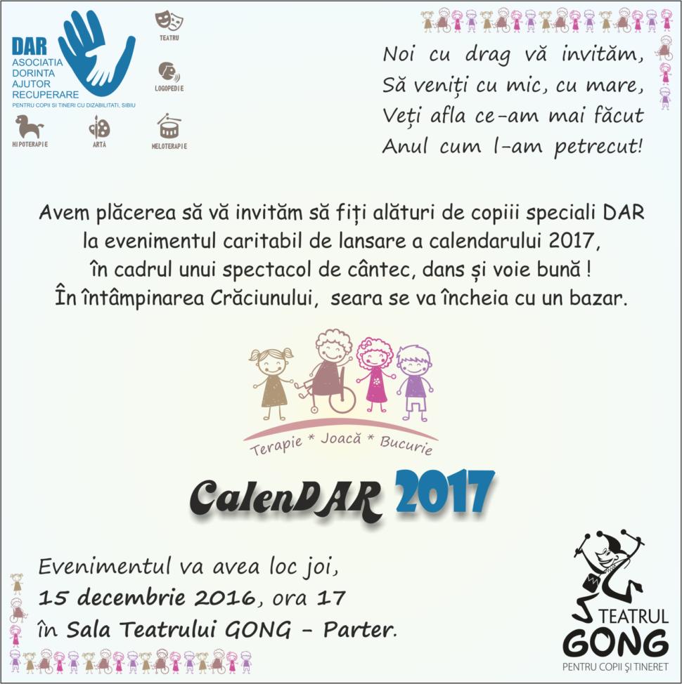 Eveniment caritabil - CalenDAR 2017